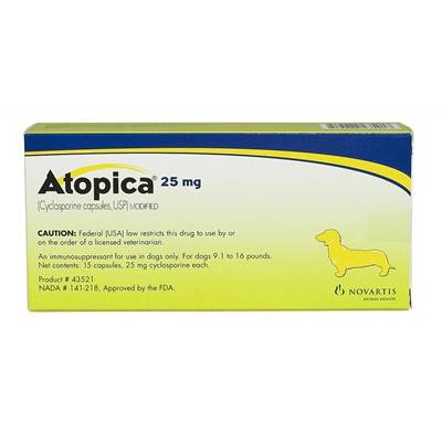 Atopica 25Mg (15 Capsules)