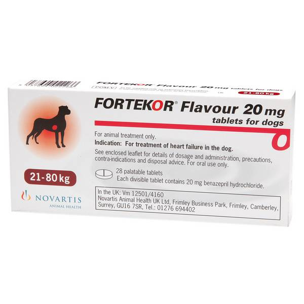 Fortekor Flavour Tabs(Dogs)28X20Mg