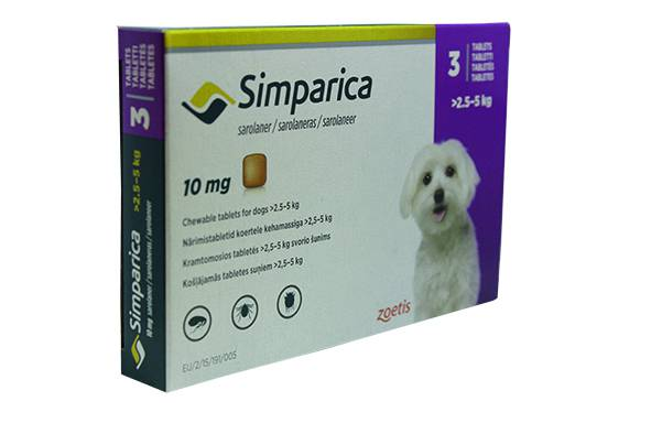 Simparica Chew Tabs Dogs 10mg Pk 3