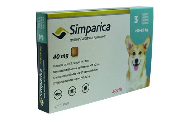 Simparica Chew Tabs Dogs 40mg Pk 3