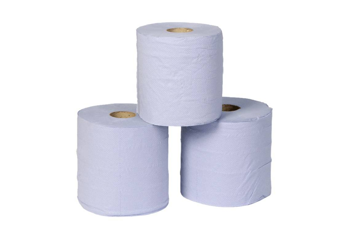 Dairy Wipes Sky Tech Blue 2Ply 6 rolls x 150mtr