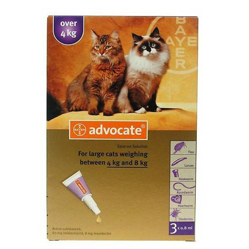 Advocate S.O. Large Cats 4-8Kg 3x0.8ml