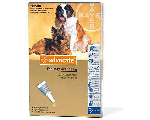 Advocate S.O. Ex Large Dogs >25 Kg 3x4.0ml