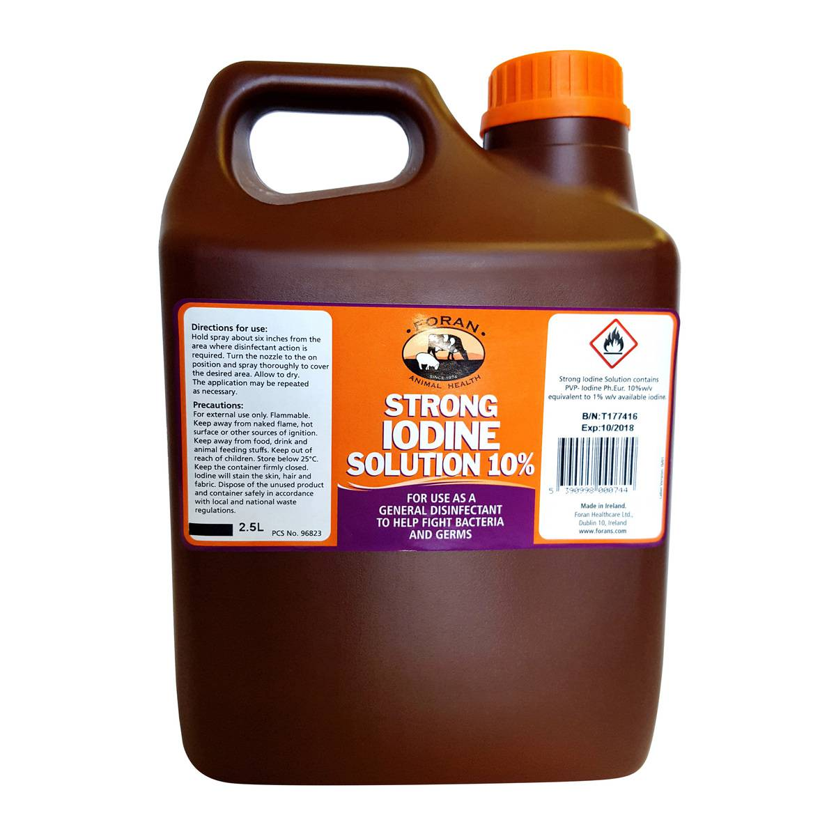 Forans Iodine 10% Strong 5Ltr