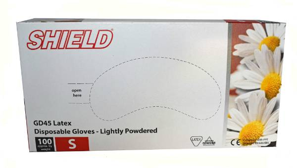 Gloves Latex Shield M (100)