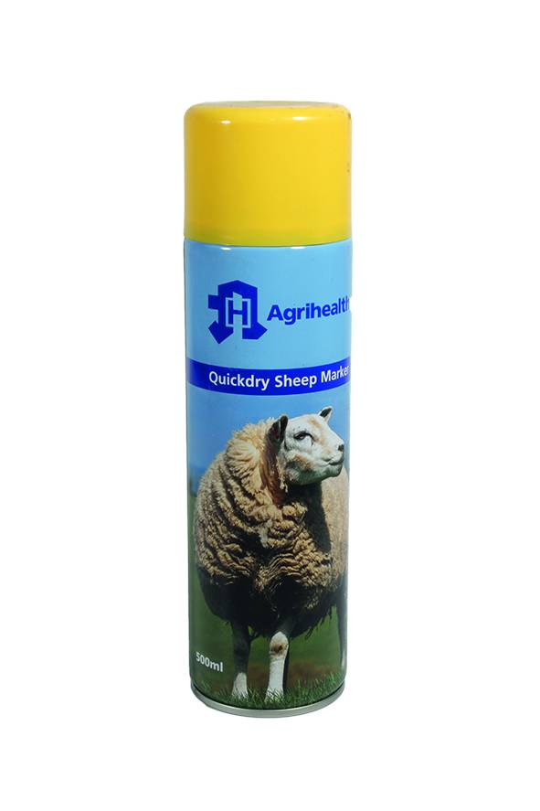 Sheep Spray Marker Agrihealth 500ml Yellow