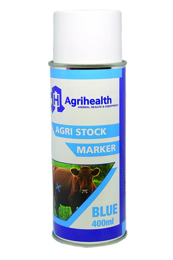 Stock Spray Marker Agrihealth 400ml Blue