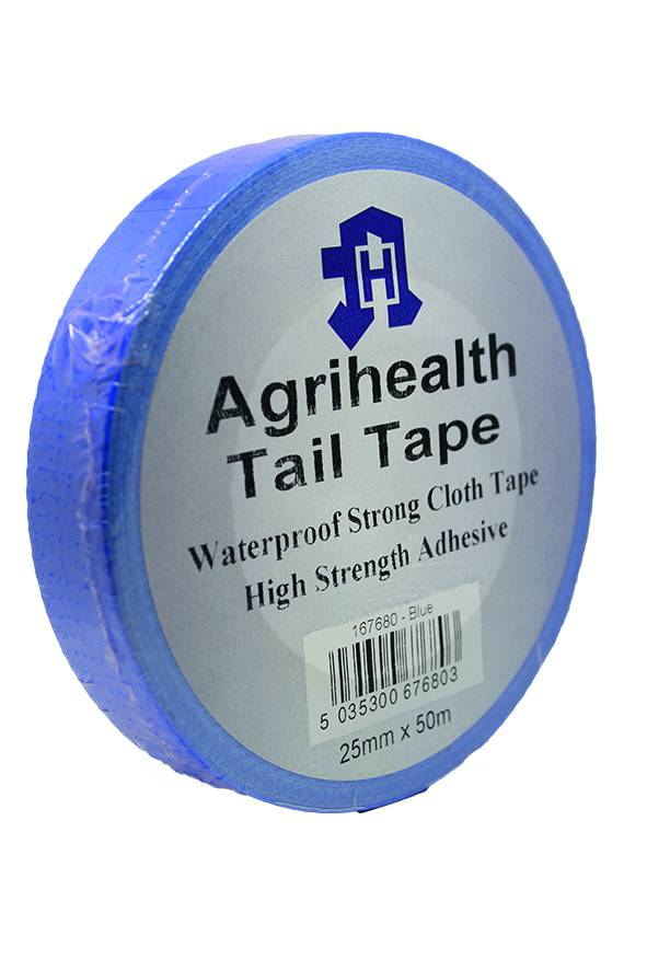Tail Tape Agrihealth Blue 25mmx50m
