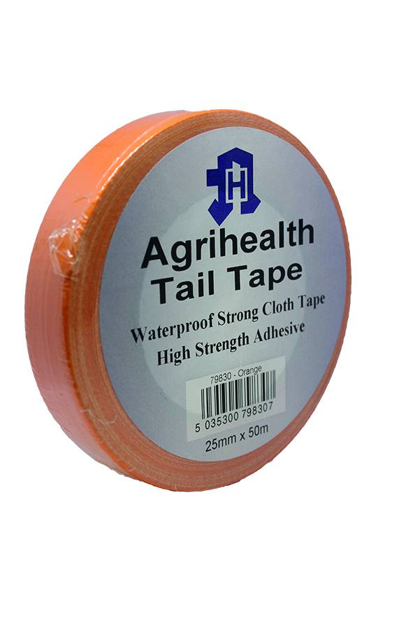 Tail Tape Agrihealth Orange 25mmx50m