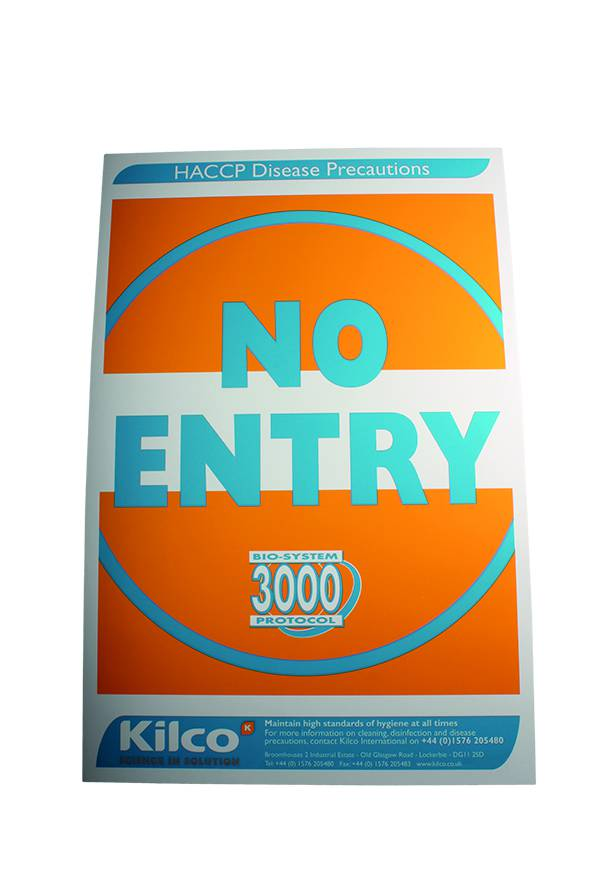 Kilco No Entry Sign