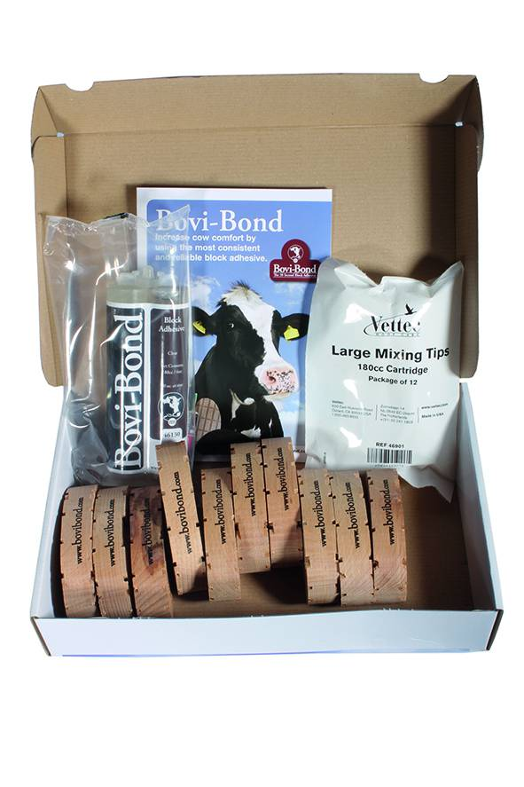 Bovi Bond Refill Kit (10 blocks, 1 adhesive, 12 Tips)