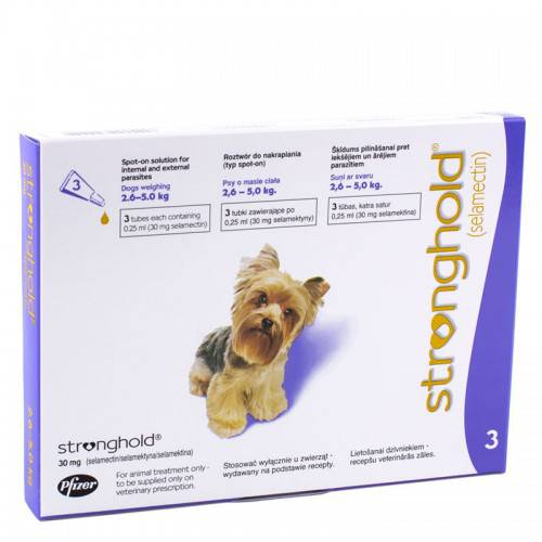 Stronghold 30Mg Small Dog 3S (Violet)