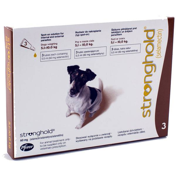 Stronghold 60Mg Small/Med.Dog 3S (Brown)